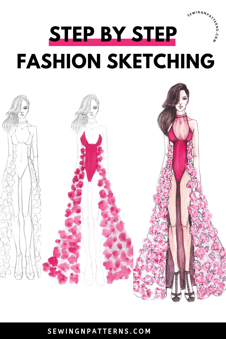 How To Draw A Fashion Sketches Like A Fashion Designer In 15 Minutes Dress Design Sketches Fashion Sketches Fashion Illustration Dresses