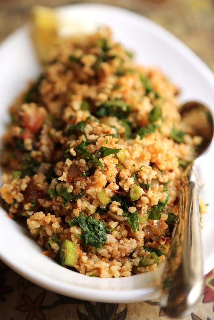 This quinoa tabbouleh salad is so good and spicy, you may actually do a double scoop onto your plate.