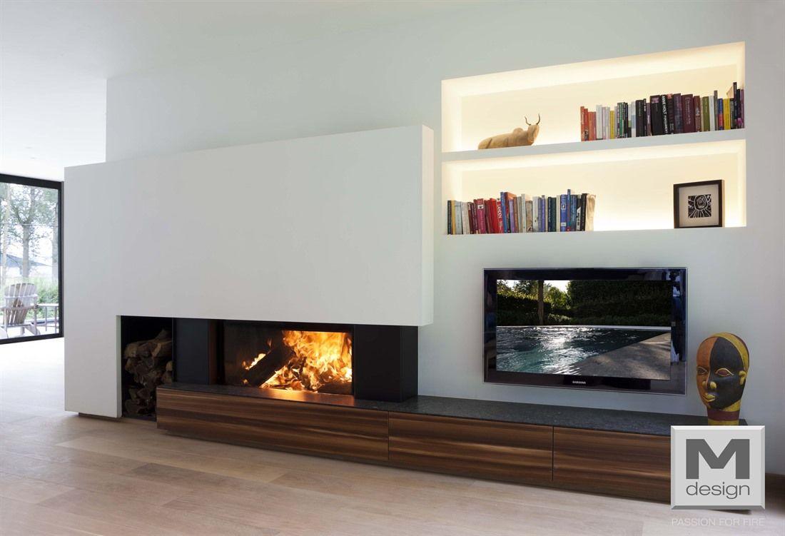 m design liftdeurhaard luna diamond 1000h haarden. Black Bedroom Furniture Sets. Home Design Ideas
