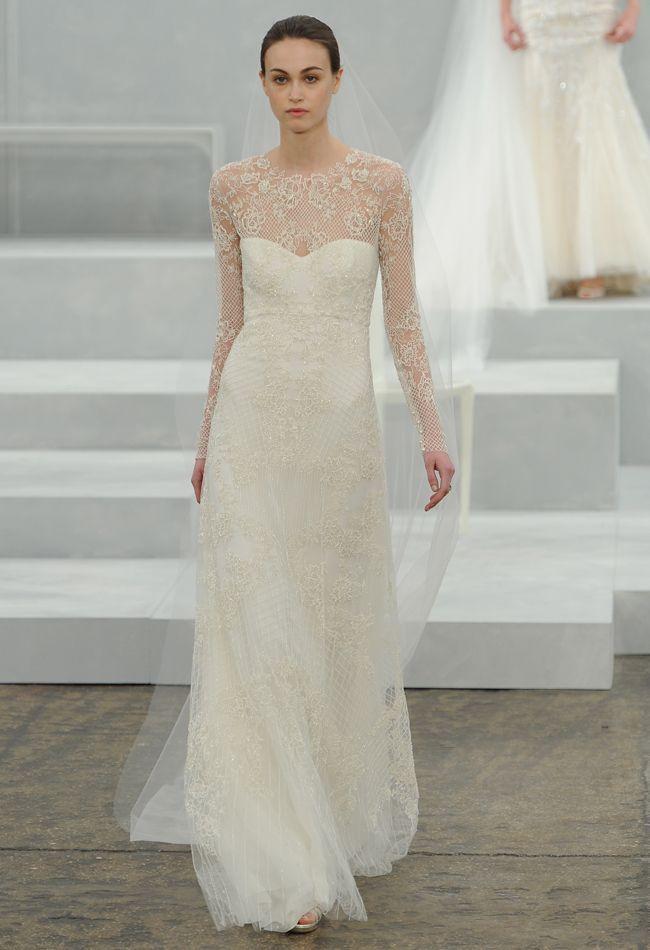 98093dd5e9e Monique Lhuillier Bridal her bridal spring 2015 line showcased earlier this  week