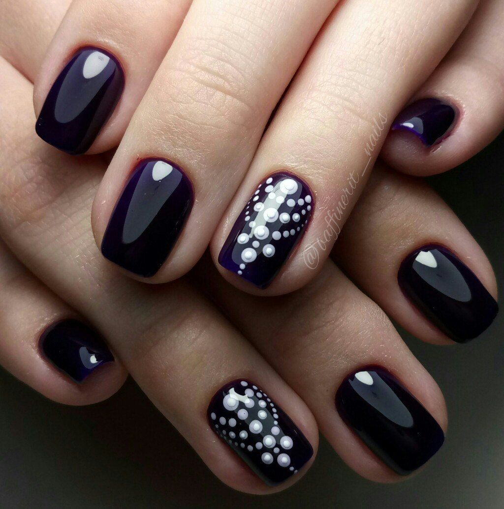 Nail Art #2622 - Best Nail Art Designs Gallery | Black gel nails ...