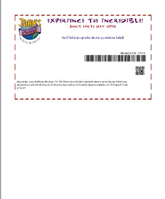 free printable incredible pizza coupons