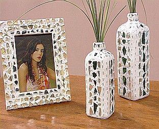 Decoracion con vidrio y espejo vidrio reciclado for Decoracion copa efecto espejo