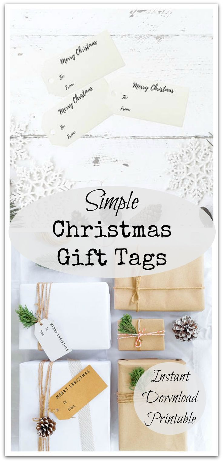 printable christmas gift tags these simple but pretty gift tags are a perfect accent to a gift especially with some cute string or twine ad af - Simple Christmas Menu