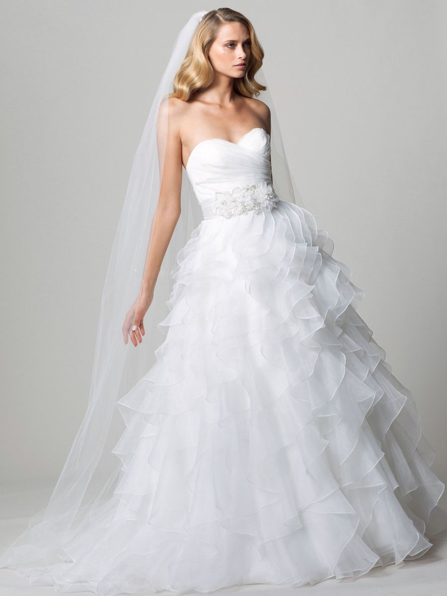 [ Ruffled Skirt Line Wedding Dress Court Train Al 15 ]   Best Free Home  Design Idea U0026 Inspiration