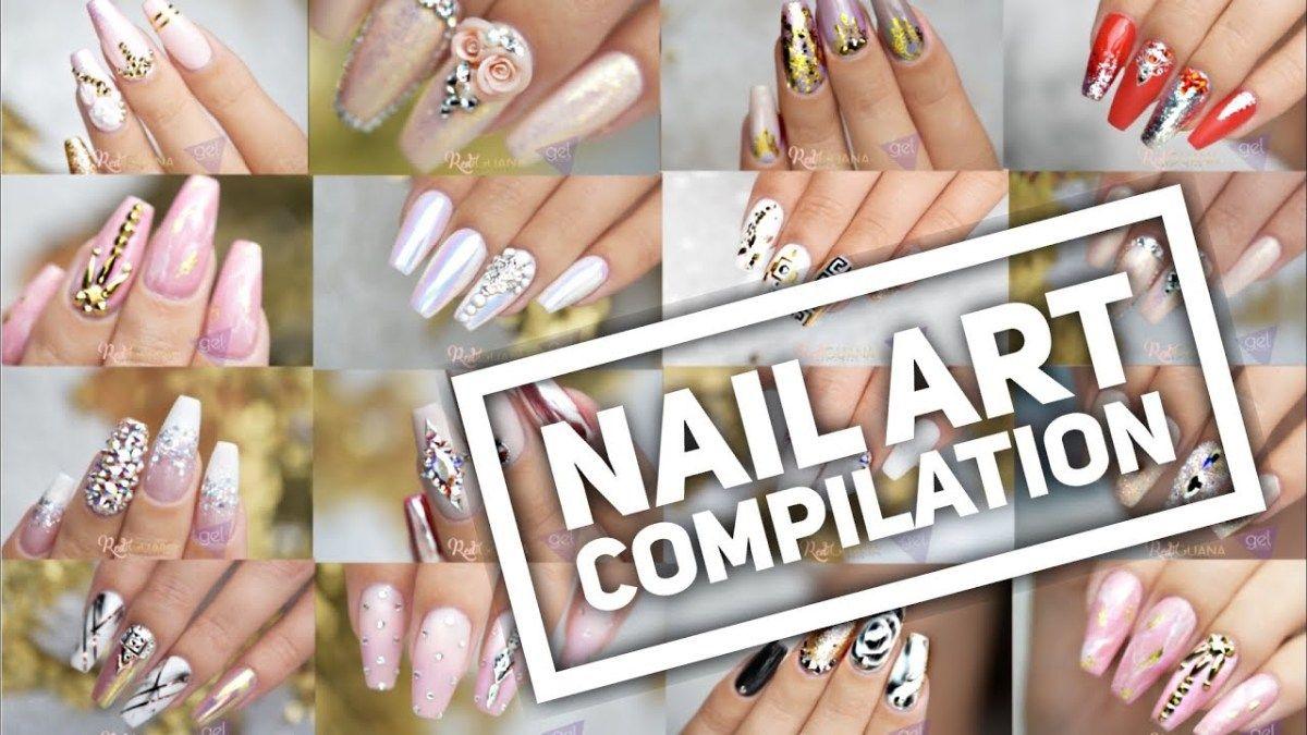 Acrylic Gel Nail Art Tutorials Nail Art Design Compilation
