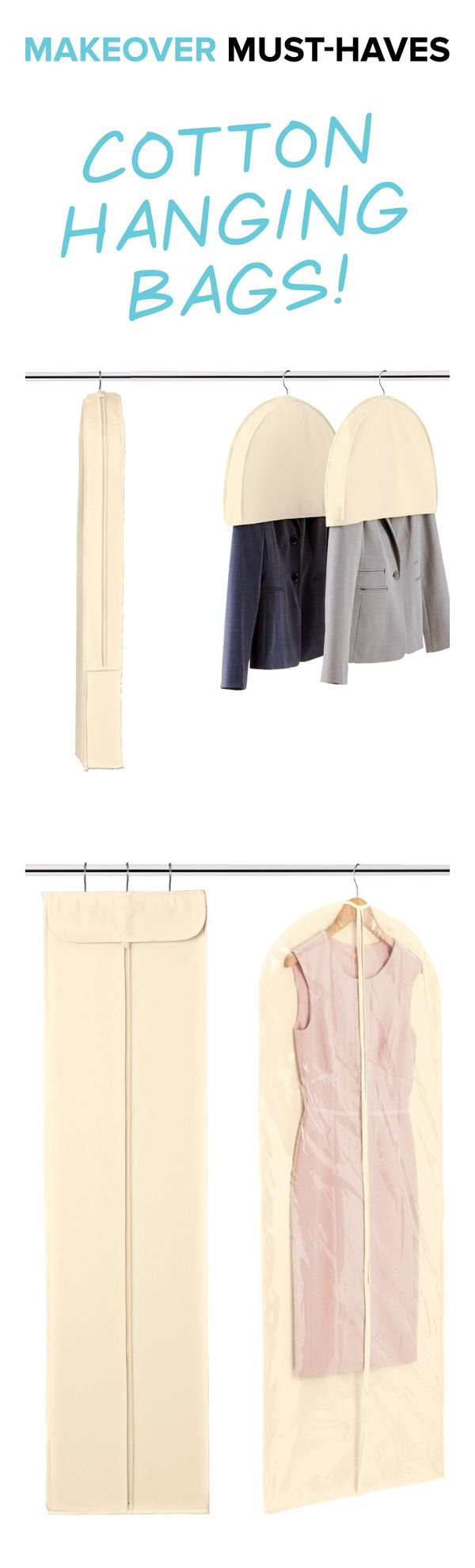 Natural Cotton Peva Single Garment Bags Spring