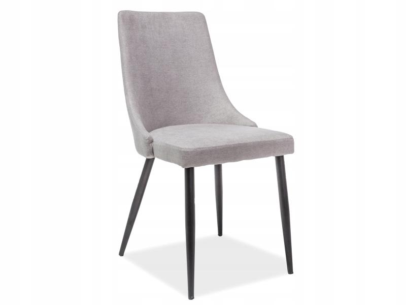 Nobel Krzeslo Tapicerowane Szare Nogi Czarne 7998134767 Oficjalne Archiwum Allegro Chair Dining Chairs Scanmod Design