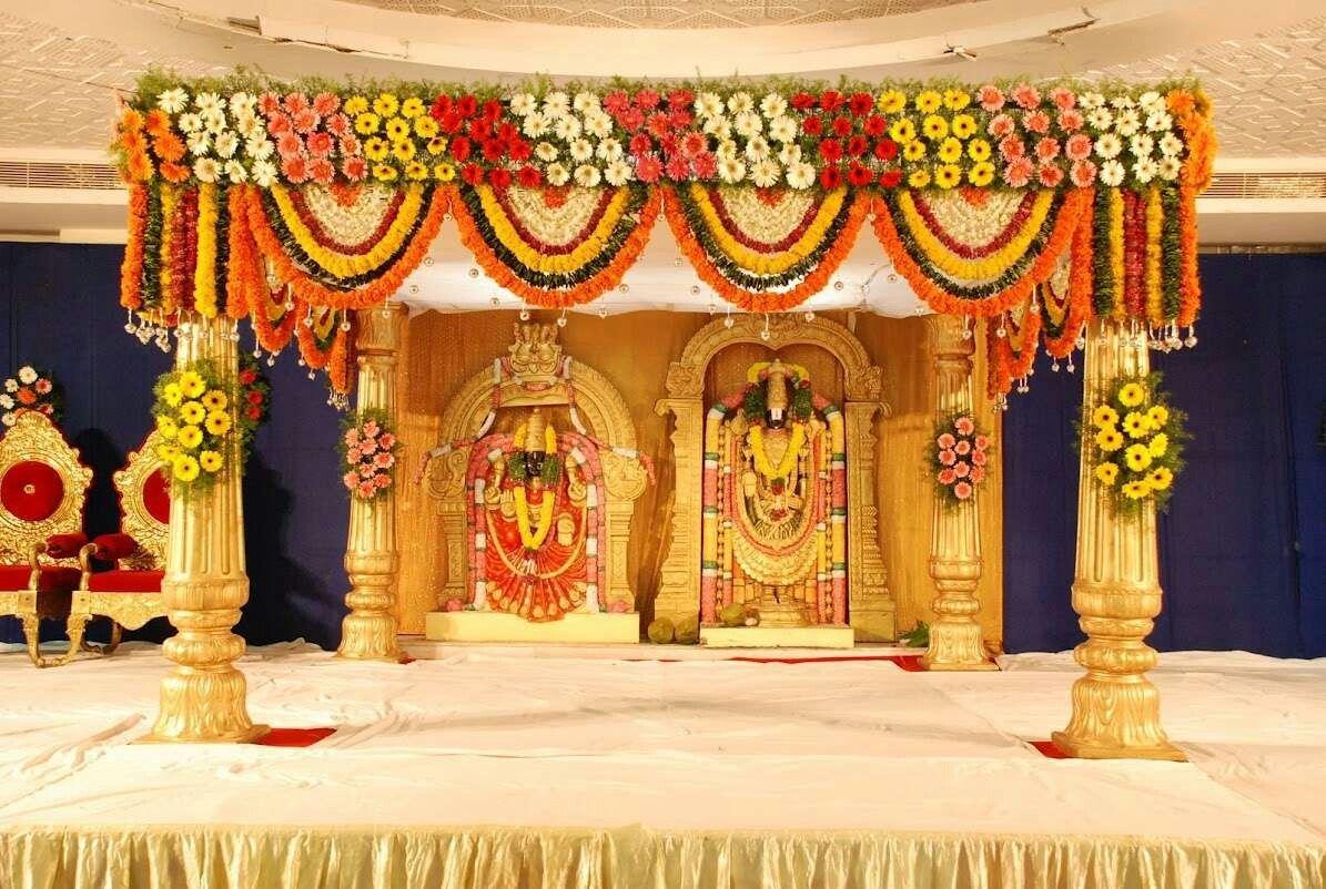 Rajasthani wedding stage decoration  Pin by Krisha Raja on Flower deco  Pinterest