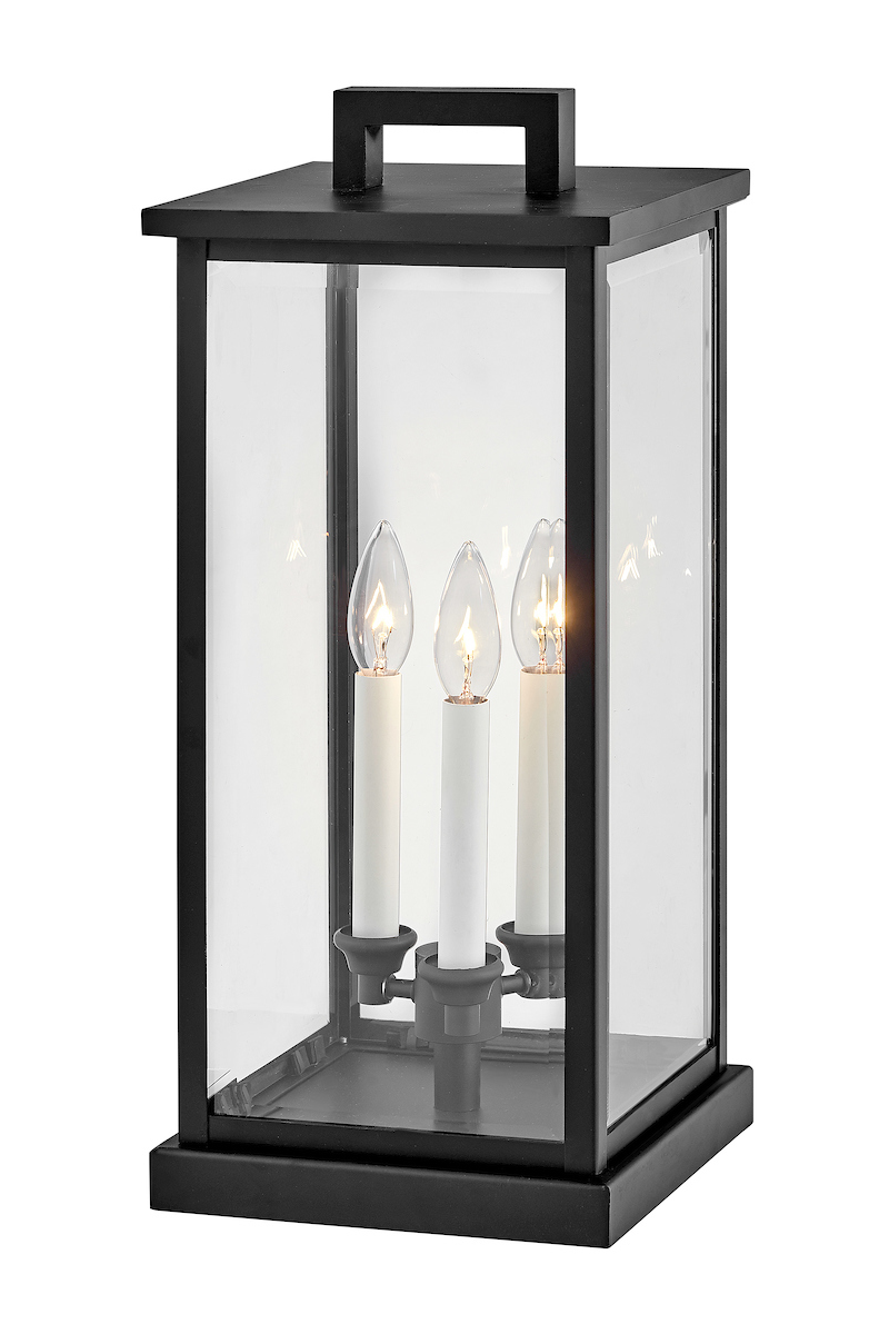 Weymouth 120v Outdoor Pier Mount Lantern By Hinkley Lighting 20017bk Wall Mount Lantern Hinkley Lighting Post Lights