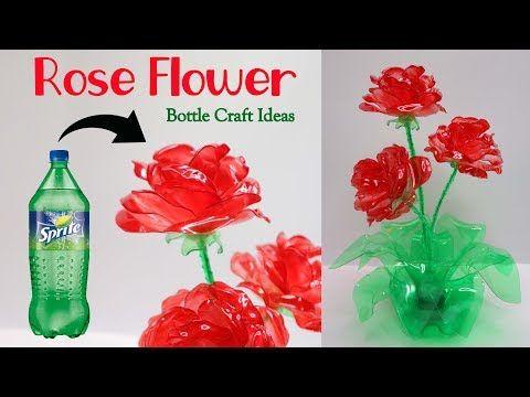 Bunga Mawar Dari Botol Plastik Bekas Rose From Plastic Bottle