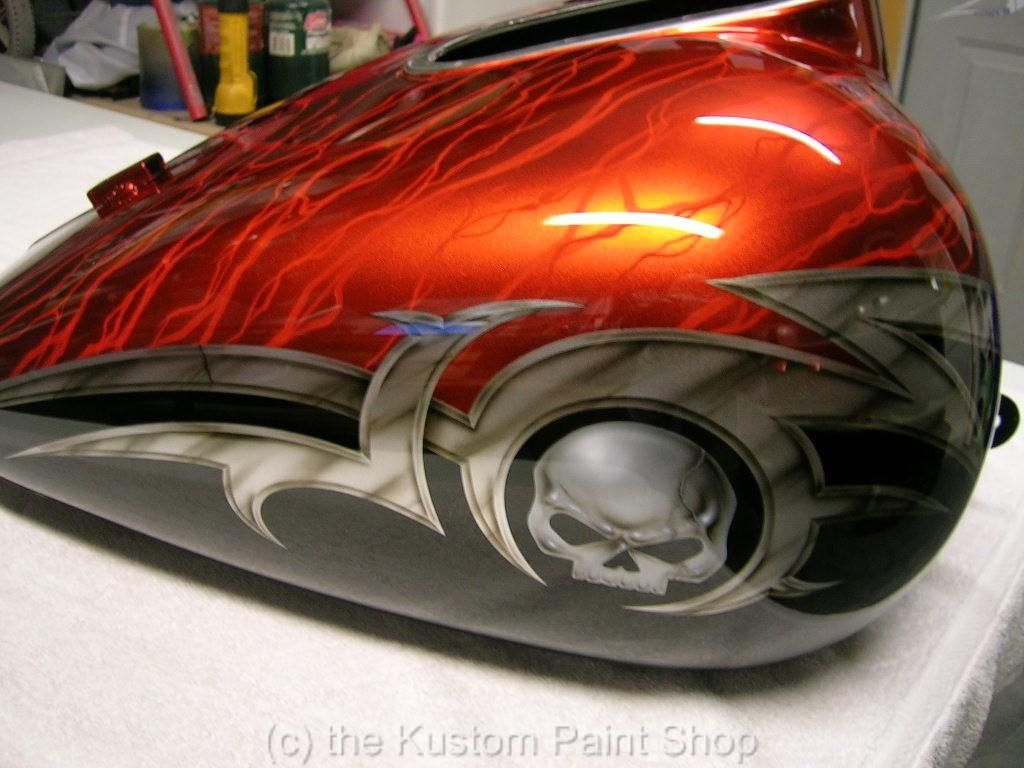 custom paint job harley davidson honda yamaha suzuki | paint jobs