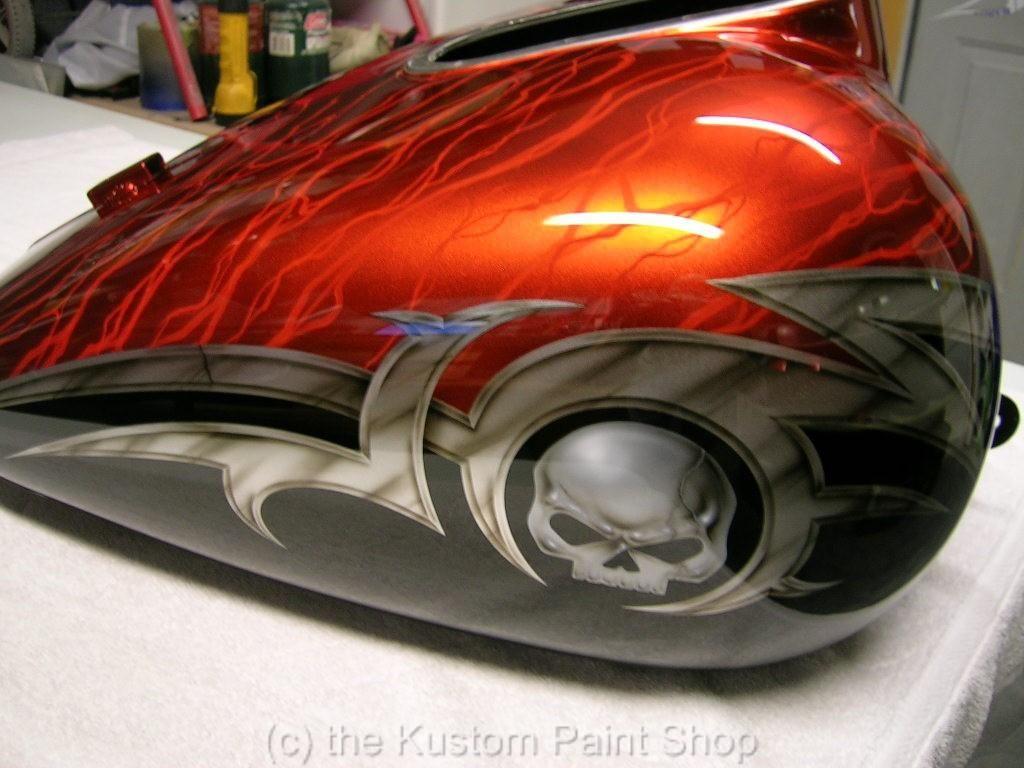 custom paint job harley davidson honda yamaha suzuki | custom