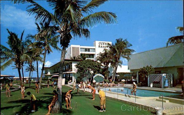 Pompano Beach Fl Ocean Ranch Hotel Villas Directly On The 250 Feet Of