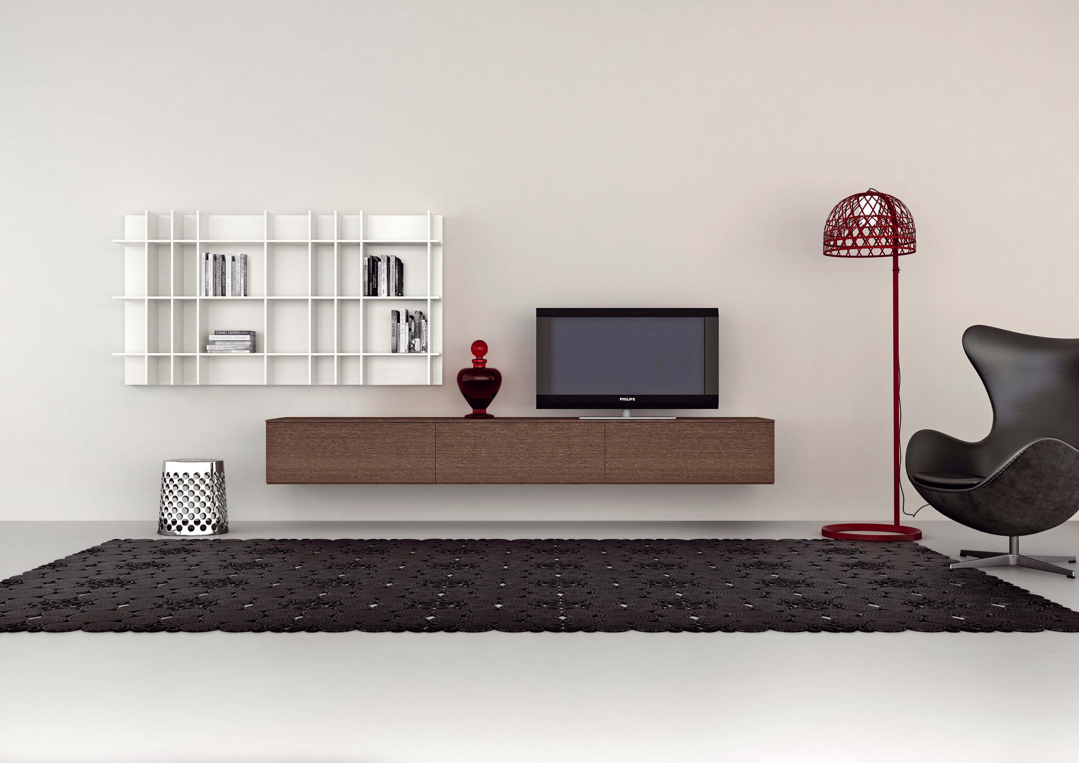 Wandmeubel Novamobili Giorno 201 Interior Design Stuff Pinterest # Meuble Tv Pratique