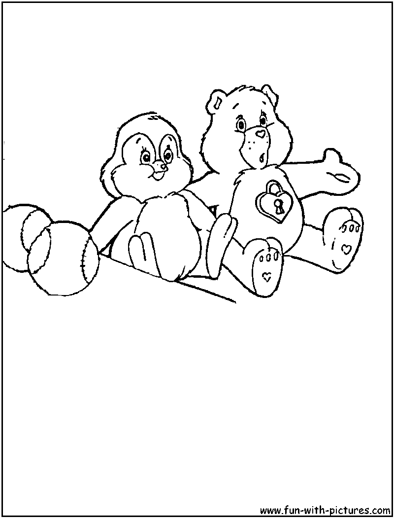 care bear cousins coloring pages - Google Search | Bear ...
