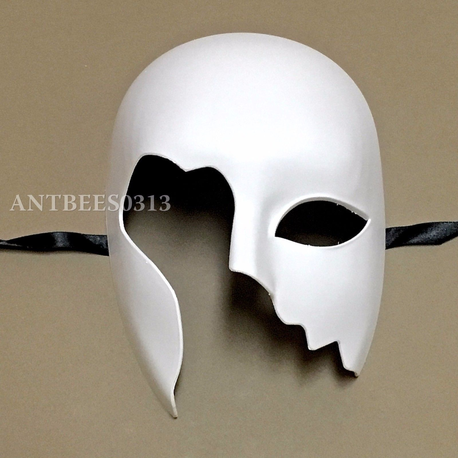 White Face Plastic Plain Mask Ghost Dance Unisex Halloween Masquerade Party Ball