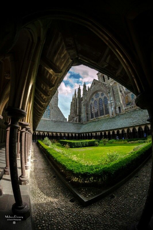 Exploring the Cloister at Mont Saint Michel, Normandy France  (September 2013)