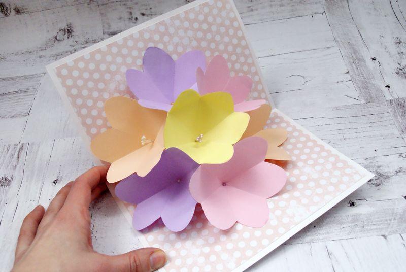 Рок, поделки из бумаги цветы открытки