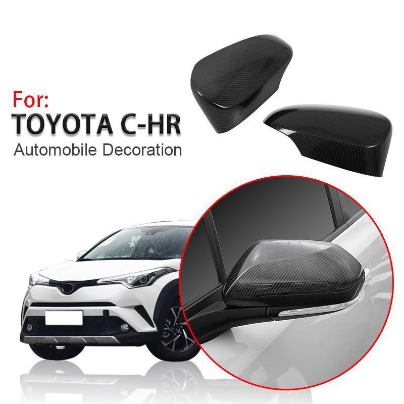 Black Plastic Rear Door Wing Spoiler Trim 1PCS For Toyota C-HR CHR 2016-2018