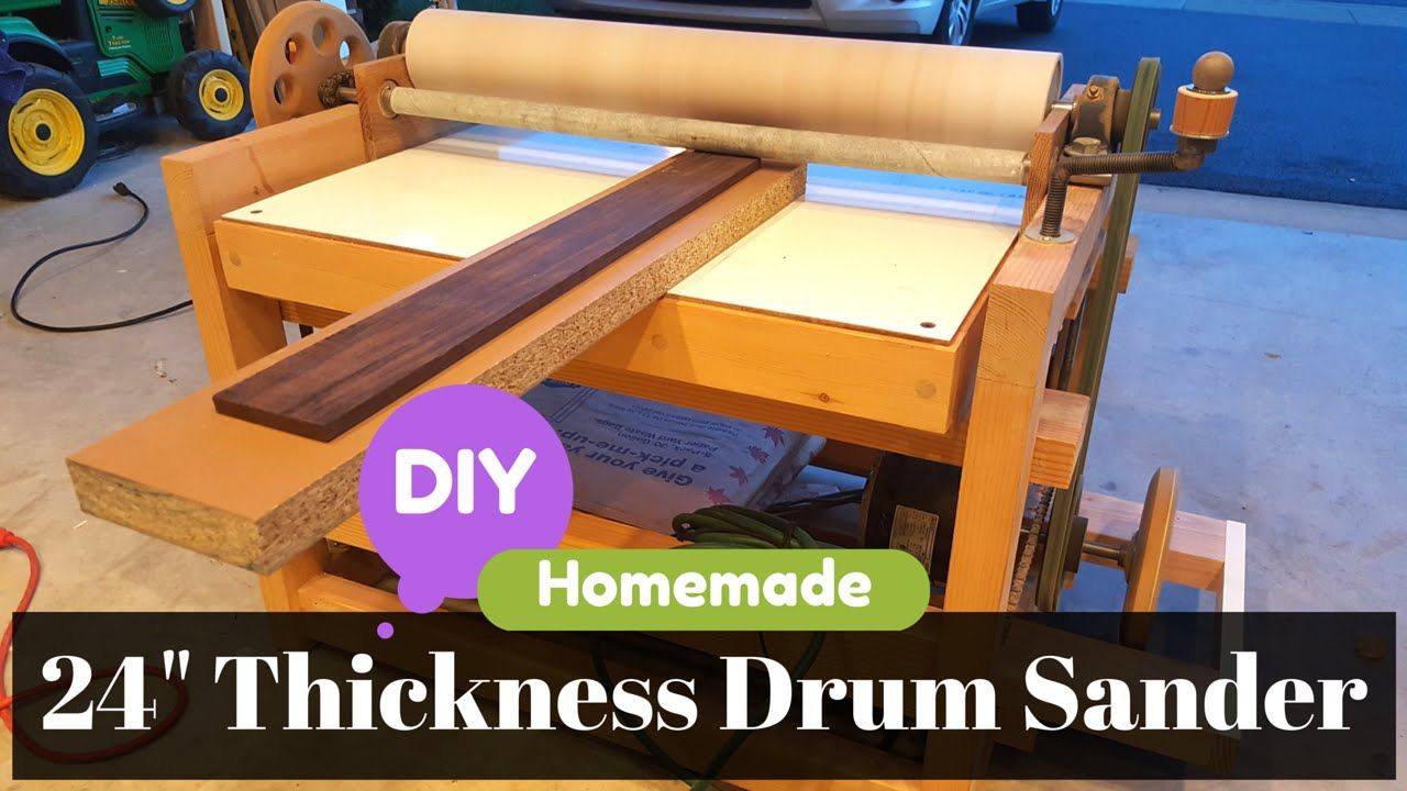 Diy Homemade 24 Thickness Drum Sander Build And Parts Detail Overview Homemade Drum Diy Drums Diy Homemade