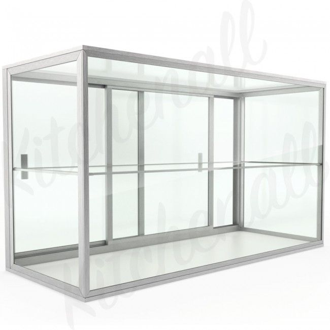 Custom Glass 30 Countertop Straight Glass Food Display Case Dry