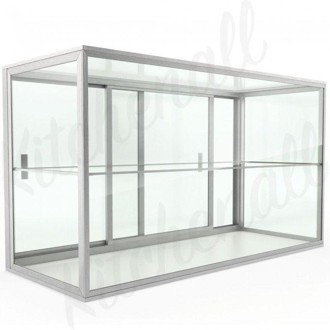 Custom Glass 30 Countertop Straight Glass Food Display Case Dry Countertops Custom Glass Countertop Display Case