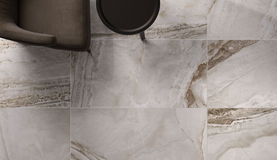 Flaviker's Supreme collection presents the appearance of different stones, from luminous Carrara and gold- or brown-veined marble to onyx | azuremagazine.com