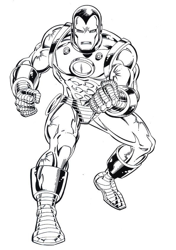 Iron Man Coloring Pages Online (With images) | Coloring ...