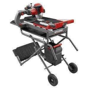 Rubi Dt 250 Evolution 10 Wet Tile Saw And Stand Tile Saw Tile Tools Evolution 10