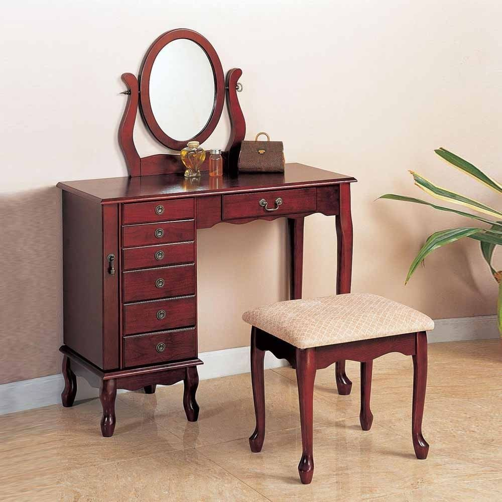 Vanities and makeup tables traditional elegant cherry oval
