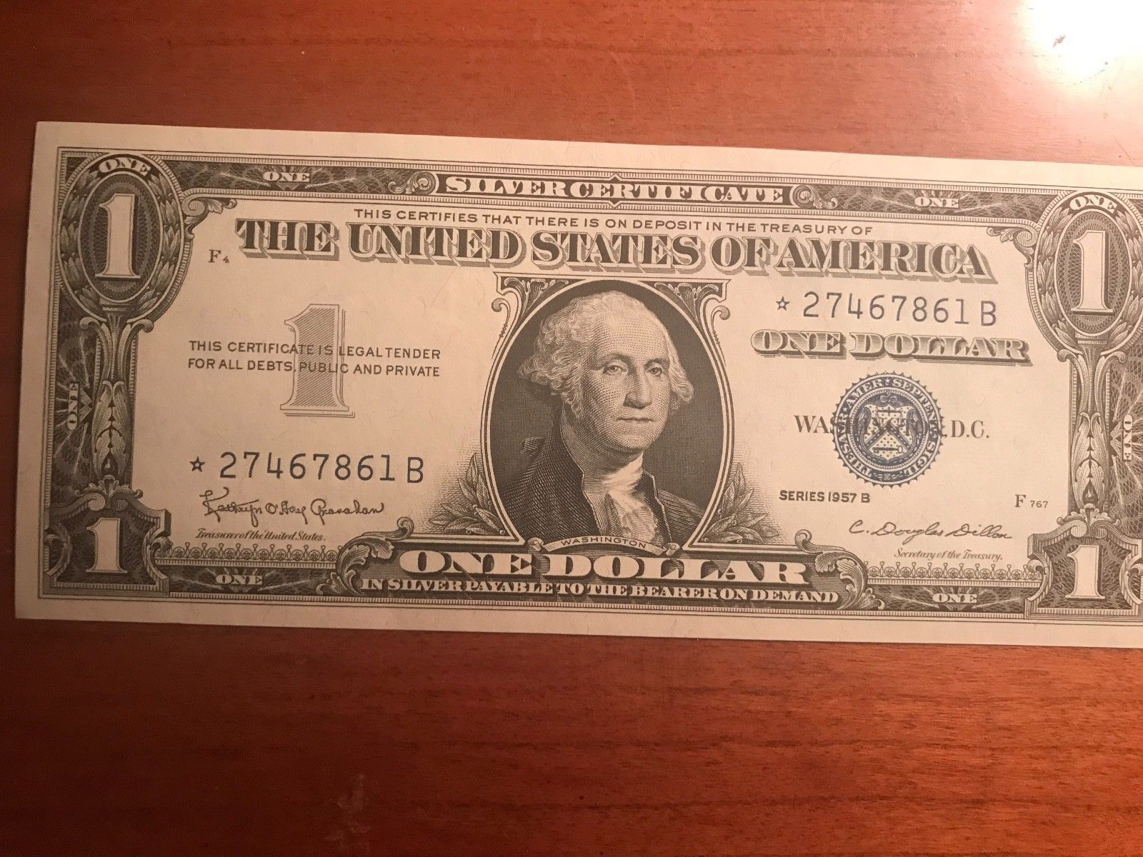1957B $1 Silver Certificate, Star Note 1 of 12 to sell | Certificate ...