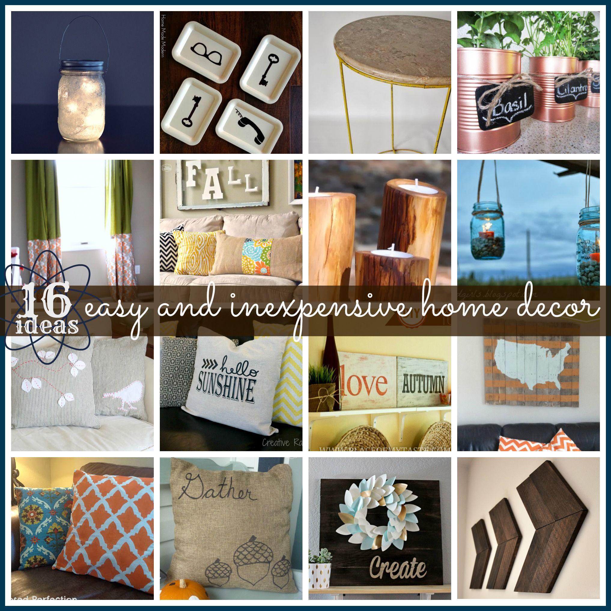 Cheap Do It Yourself Home Decor: Inexpensive Home Decor, Easy