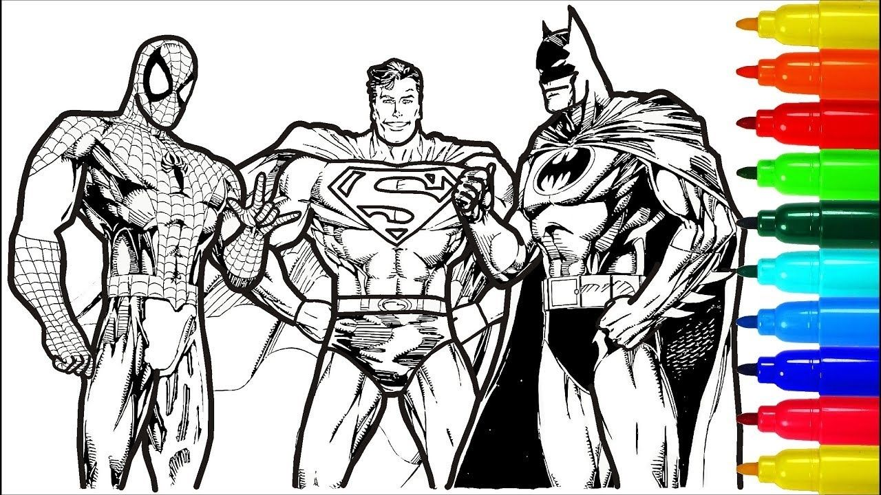 Superman Batman Coloring Pages Coloring Pages Allow Kids To Accompany Their Favorite Charac Batman Coloring Pages Superman Coloring Pages Spiderman Coloring