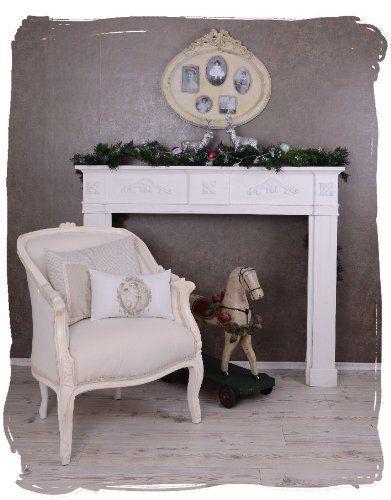 Shabby Chic - Nostalgie Romantische Kaminumrandung - schöne bilder fürs wohnzimmer
