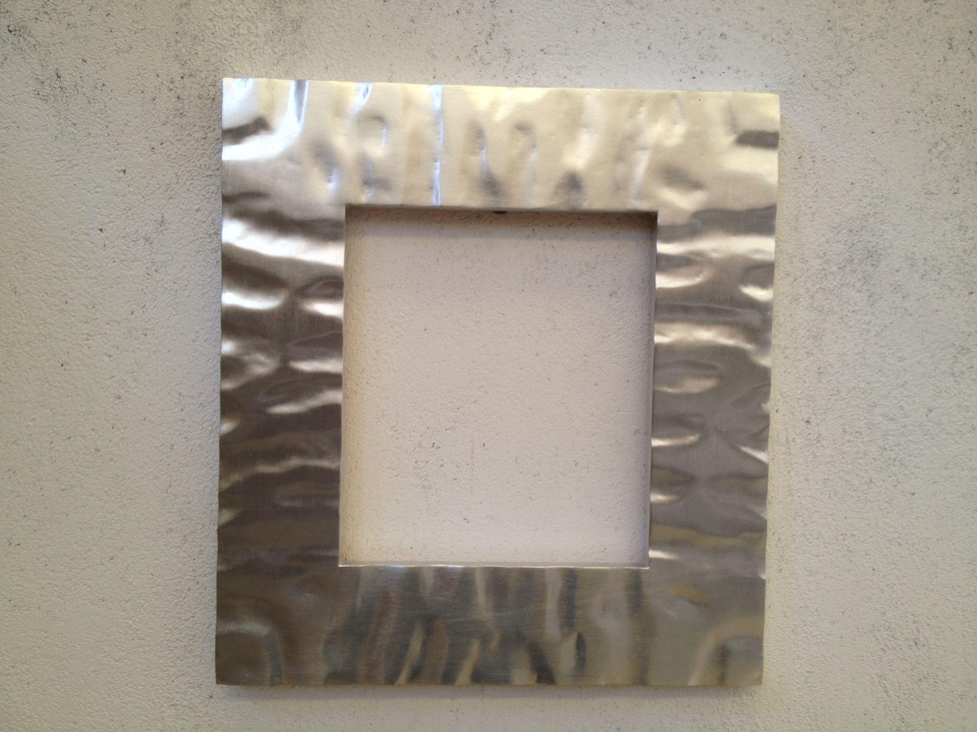 espejo moderno Marco.espejo moderno en pan de plata.Diseño muy ...