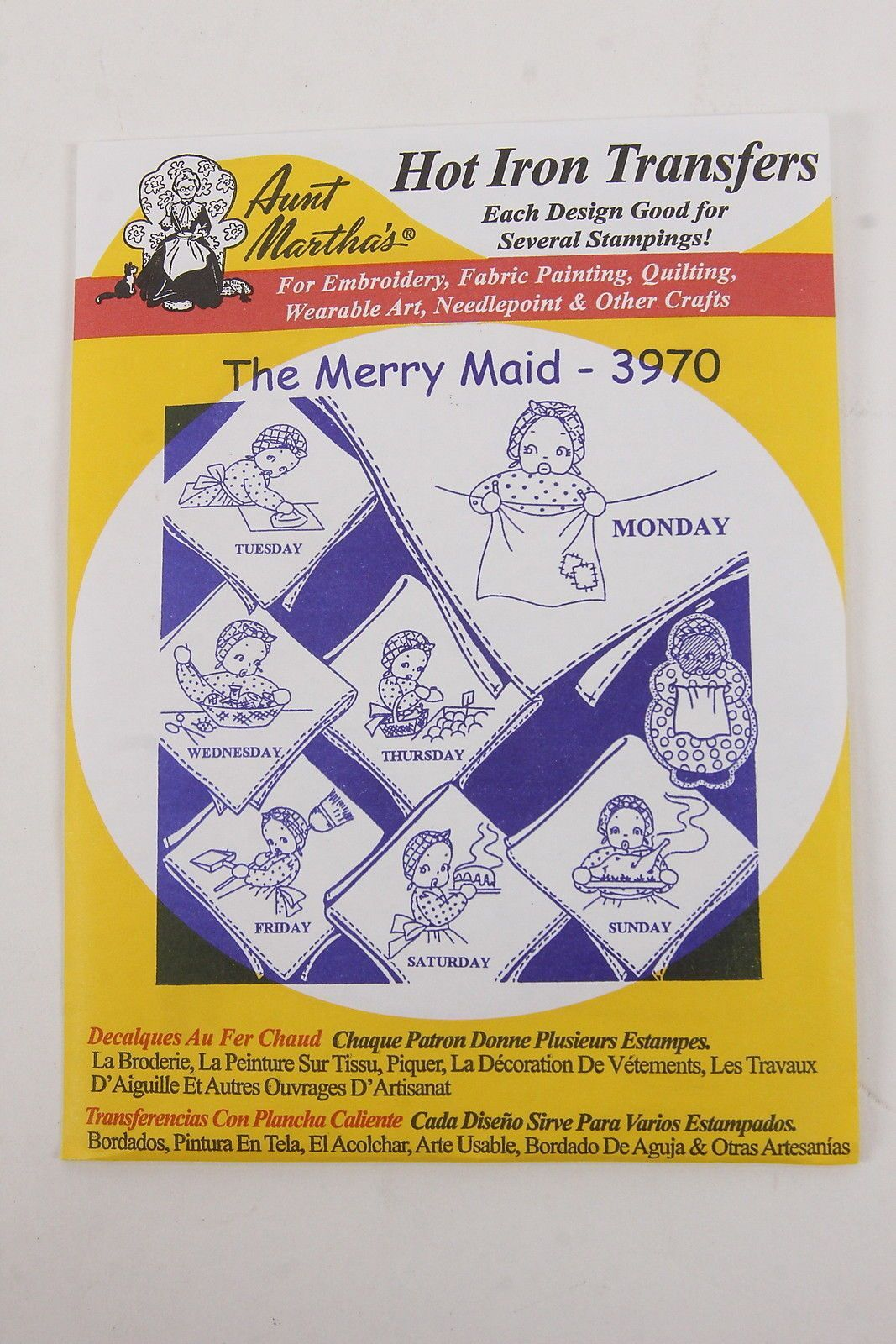Black Americana Hot Iron Transfers Aunt Martha's 'The Merry Maid' 3970 Unopened