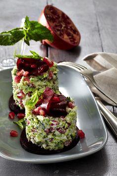 Brokkoli-Tatar mit Granatapfel Rezept  | LECKER #presidents