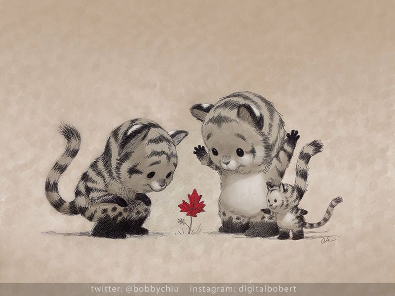 "Fall is coming by imaginism.deviantart.com on @deviantART ""What's little, red and surrounded by tigers?"""