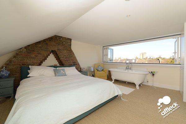 loft conversion open plan bedroom bathroom - Google Search