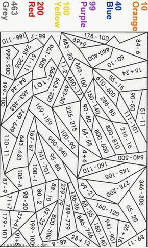 Раскраски по номерам. Математические | Раскраска по ...