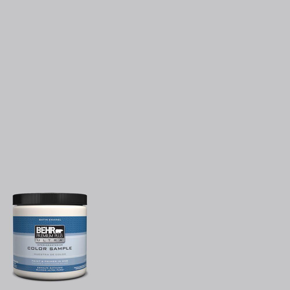 BEHR Premium Plus Ultra 8 oz. #T15-6 Dreamscape Gray Interior/Exterior Satin Enamel Paint Sample-UL22016 - The Home Depot