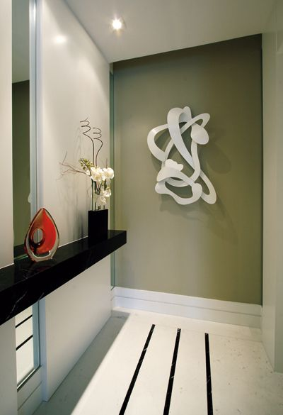 Armario Area De Serviço Aço ~ Aparador estreito + espelho Hall Pinterest Aparador, Espelhos e Conforto