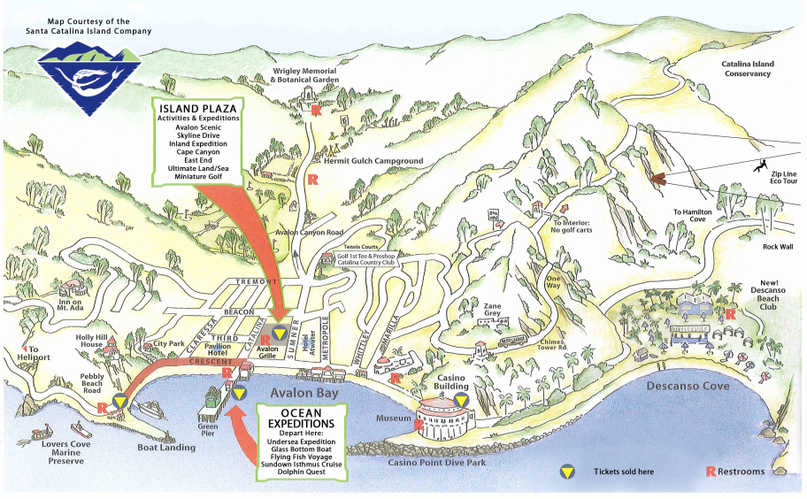 Map Of Catalina Island Catalina Island In 2019 Santa