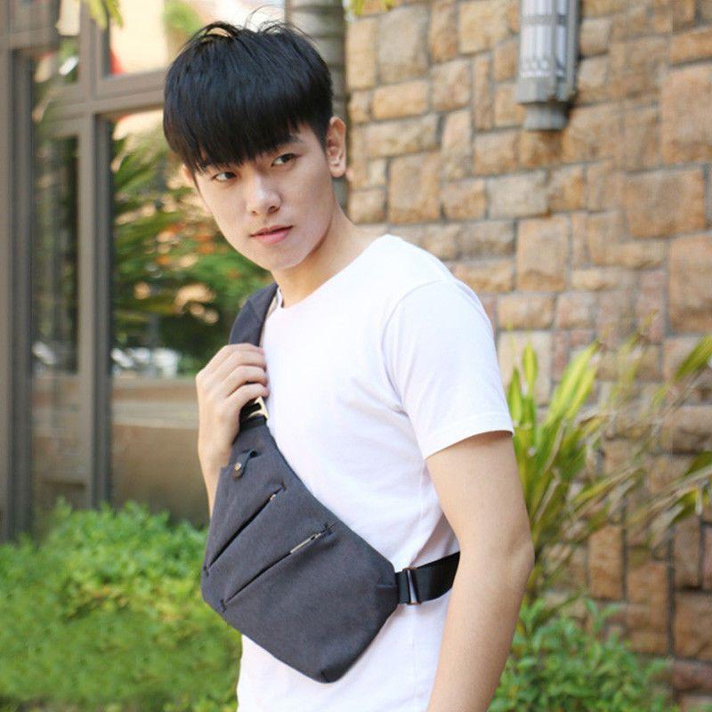 Men Boy Crossbody Sling Bag Waterproof Shoulder Chest Back Pack Anti Theft