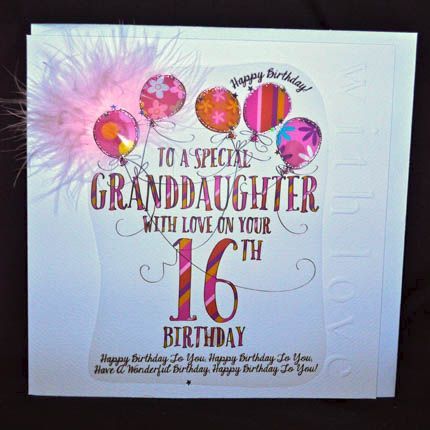Granddaughter Birday Cards Greetings On Pinterest Birthday Card Online 16th