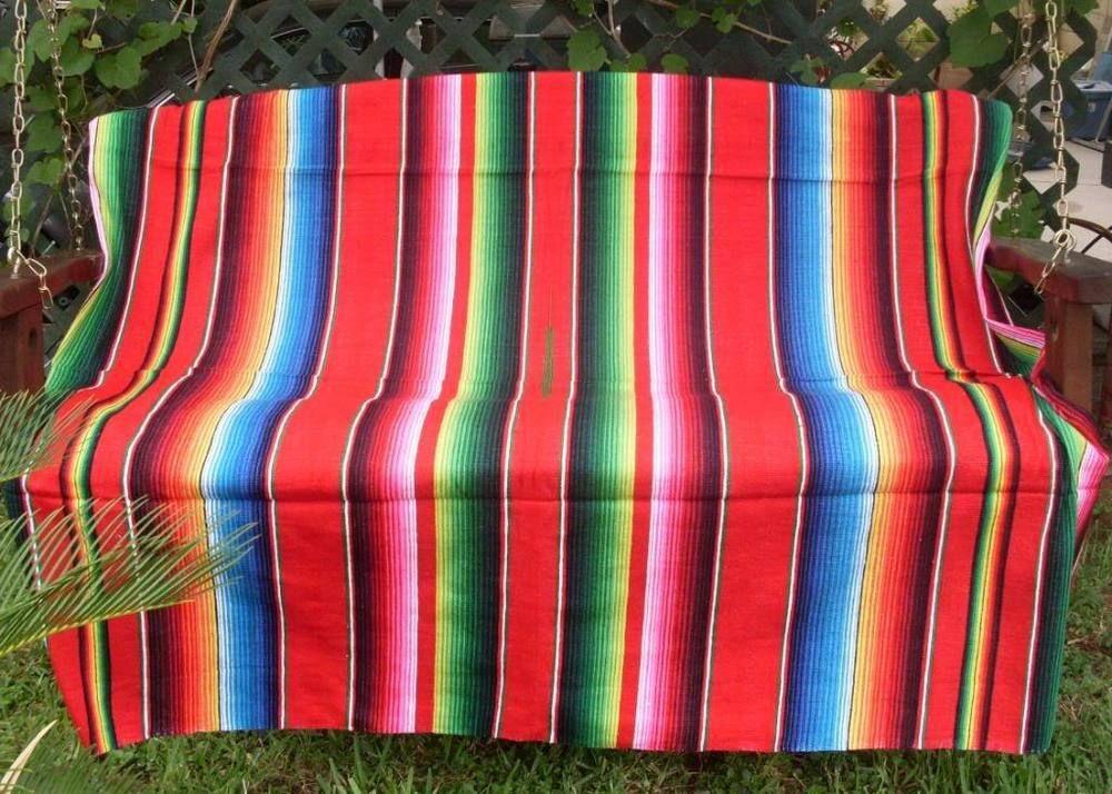 Assorted Colors Sarape Serape Mexican Blanket, Saltillo Southwestern Afghan