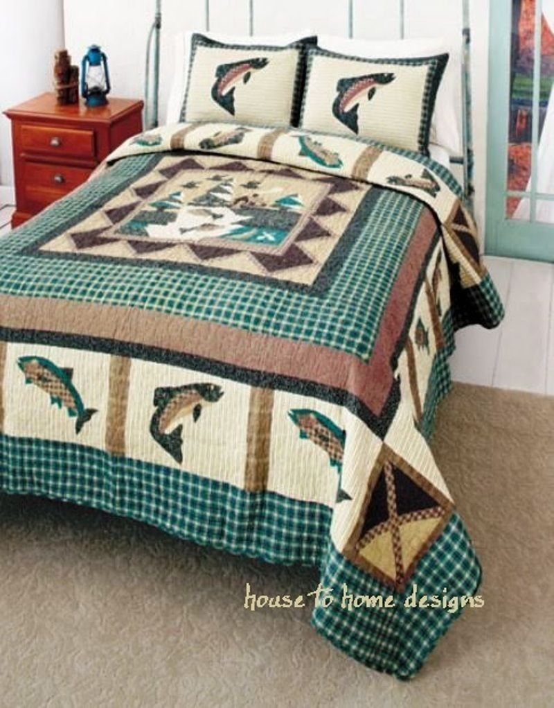 Our Fish And Bobber Duvet Would Look Great In A Kids Room Or Any