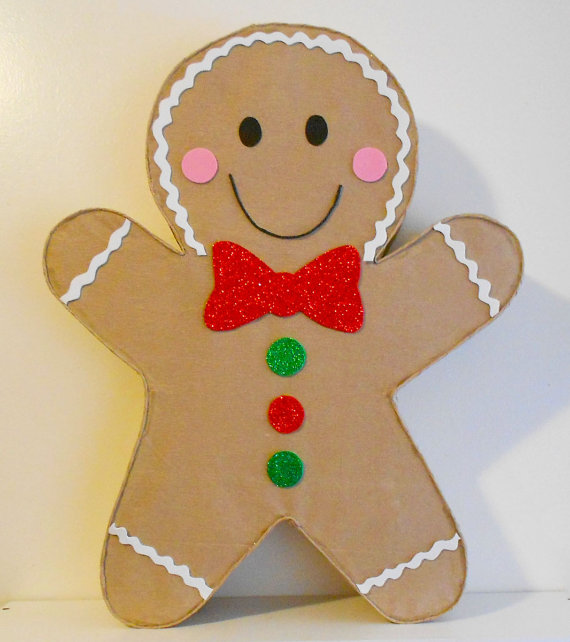 gingerbread man pinata christmas decoration christmas party decoration merry christmas decor