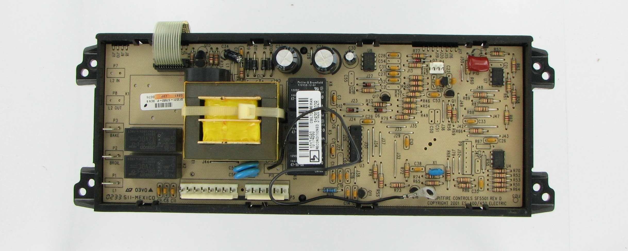 Frigidaire 316207602 Range Oven Control Board And Clock Frigidaire Oven Range Broken Appliance